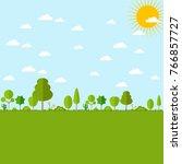 green trees nature landscape... | Shutterstock .eps vector #766857727