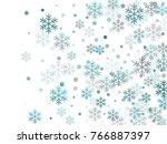 snowflake macro vector... | Shutterstock .eps vector #766887397
