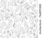 vector floral seamless pattern... | Shutterstock .eps vector #766895383
