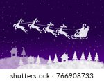 clouds shaped santa claus... | Shutterstock . vector #766908733