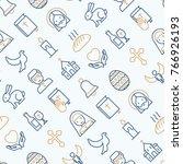 christianity seamless pattern... | Shutterstock .eps vector #766926193