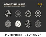 set of eight minimalistic... | Shutterstock .eps vector #766930387