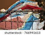 miscellaneous cloth napkins in... | Shutterstock . vector #766941613