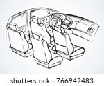 suv rear chair  rudder ... | Shutterstock .eps vector #766942483