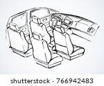 suv rear chair  rudder ...   Shutterstock .eps vector #766942483