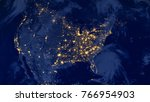 united states of america lights ... | Shutterstock . vector #766954903
