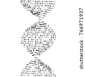3d render  dna alone  abstract... | Shutterstock . vector #766971937