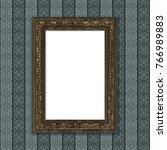 mock up 3d vintage frame... | Shutterstock . vector #766989883