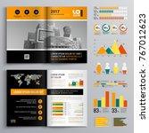 business brochure template... | Shutterstock .eps vector #767012623