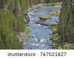Gibbon Falls At Yellowstone...