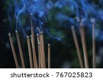 Incense Burns With Smoke For...
