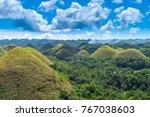chocolate hills  bohol ... | Shutterstock . vector #767038603