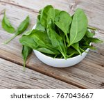 detox product. fresh spinach...   Shutterstock . vector #767043667