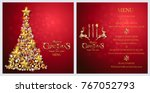 christmas greeting and new... | Shutterstock .eps vector #767052793
