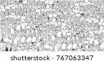 illustration of large crowd... | Shutterstock .eps vector #767063347