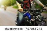 close up of a high power... | Shutterstock . vector #767065243