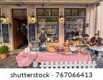 gothenburg   november 17  a caf ... | Shutterstock . vector #767066413