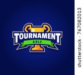 golf tournament logo sport | Shutterstock .eps vector #767082013