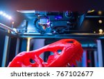 three dimensional printing... | Shutterstock . vector #767102677
