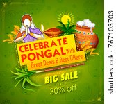 illustration of happy pongal... | Shutterstock .eps vector #767103703