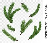 pine christmas tree branches... | Shutterstock .eps vector #767116783
