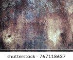 texture of rusty iron. aged... | Shutterstock . vector #767118637