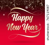 2018   happy new year lettering ... | Shutterstock .eps vector #767119087
