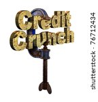 credit crunch words in a vice ...