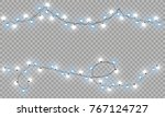 glowing christmas lights... | Shutterstock .eps vector #767124727