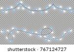 glowing christmas lights... | Shutterstock .eps vector #767124727