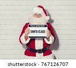 santa claus arrested on... | Shutterstock . vector #767126707
