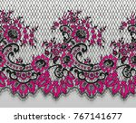 seamless vector black and pink... | Shutterstock .eps vector #767141677