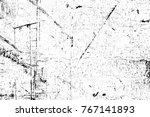 grunge black and white pattern. ... | Shutterstock . vector #767141893