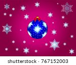 new year background with blue... | Shutterstock .eps vector #767152003