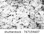 grunge black and white pattern. ... | Shutterstock . vector #767154607