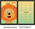 a beautiful lion. king of...   Shutterstock .eps vector #767156017