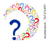 colorful question mark poster.... | Shutterstock .eps vector #767171497