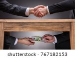 close up of two businesspeople... | Shutterstock . vector #767182153