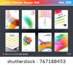 set of design of business... | Shutterstock .eps vector #767188453