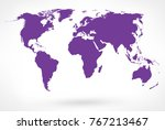 purple world map vector. vector ... | Shutterstock .eps vector #767213467
