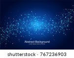 geometric abstract futuristic... | Shutterstock .eps vector #767236903
