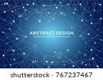 geometric abstract futuristic... | Shutterstock .eps vector #767237467