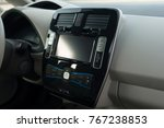 modern car dashboard. screen... | Shutterstock . vector #767238853