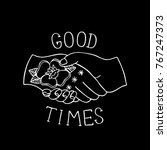 good times traditional tattoo... | Shutterstock .eps vector #767247373