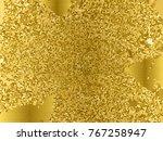 gold sequins texture. abstract...   Shutterstock .eps vector #767258947