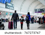 family at the terminal | Shutterstock . vector #767273767