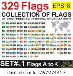 flags  big collection  flags of ... | Shutterstock .eps vector #767274457