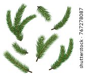 pine christmas tree branches... | Shutterstock .eps vector #767278087