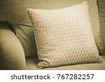 earth tones color pillows and... | Shutterstock . vector #767282257