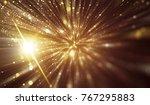 abstract gold bokeh circles.... | Shutterstock . vector #767295883